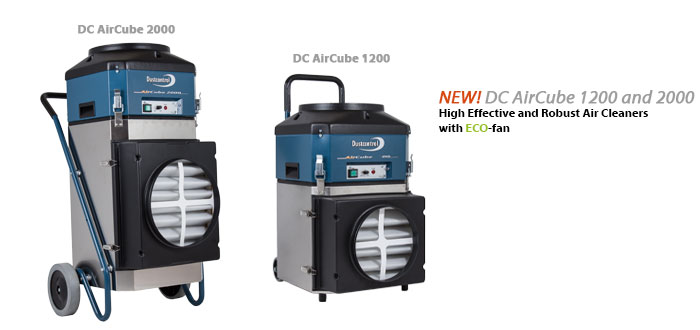 Dustcontrol Air Cleaner DC AirCube 1200 and 2000